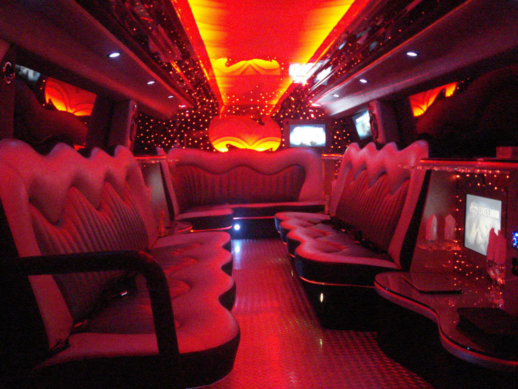 Inside Black Hummer Limo